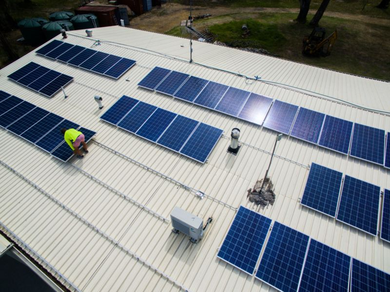 Installing solar panels on shed roof